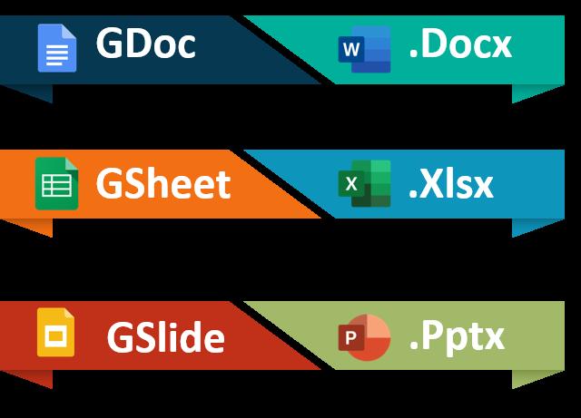 G Suite - GDoc GSheet GSlide