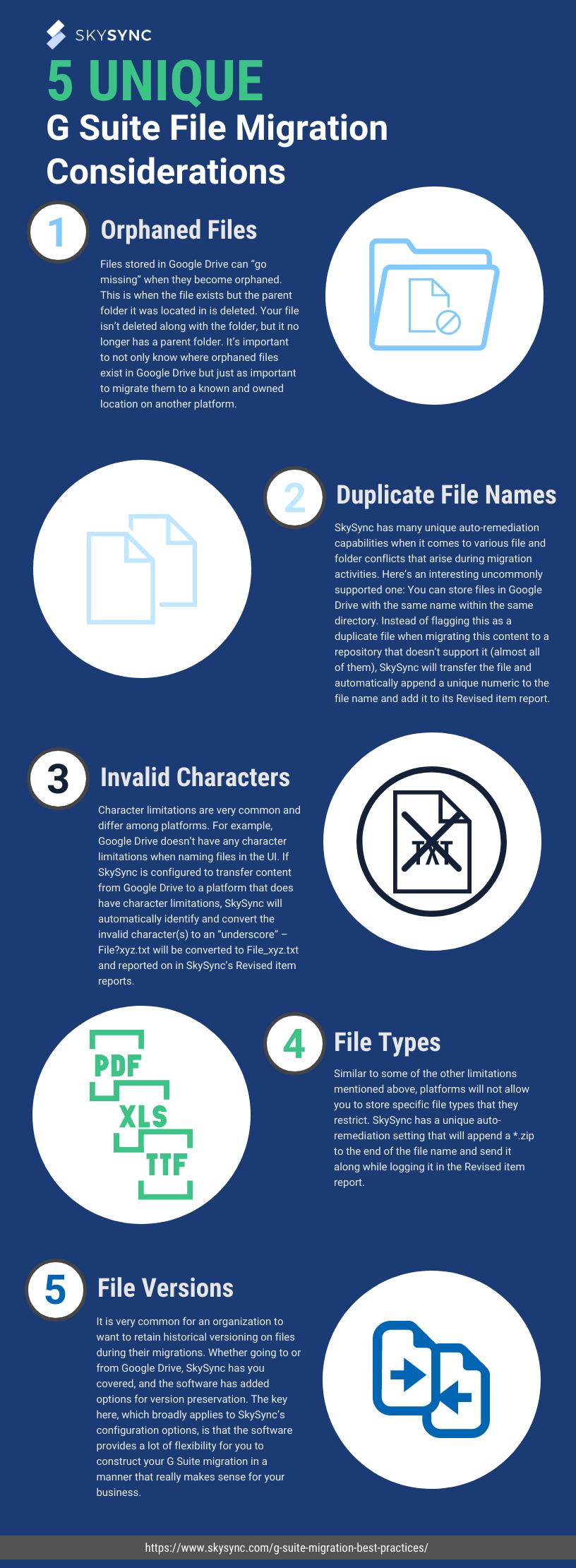 5 Unique G Suite File Migration Considerations Infographic