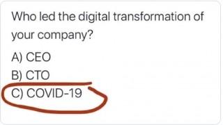 COVID-19 Lead Digital Transformation Meme